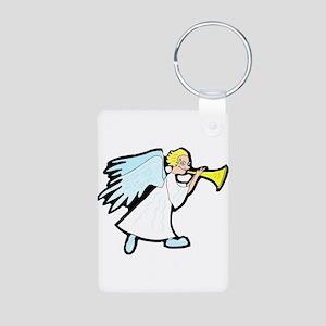 Angel Aluminum Photo Keychain