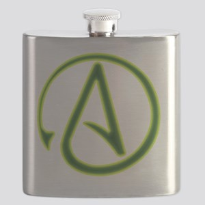 Green Lantern Atheist Symbol Flask