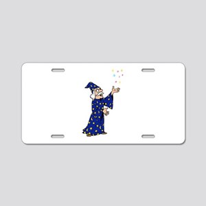 Blue Wizard Aluminum License Plate