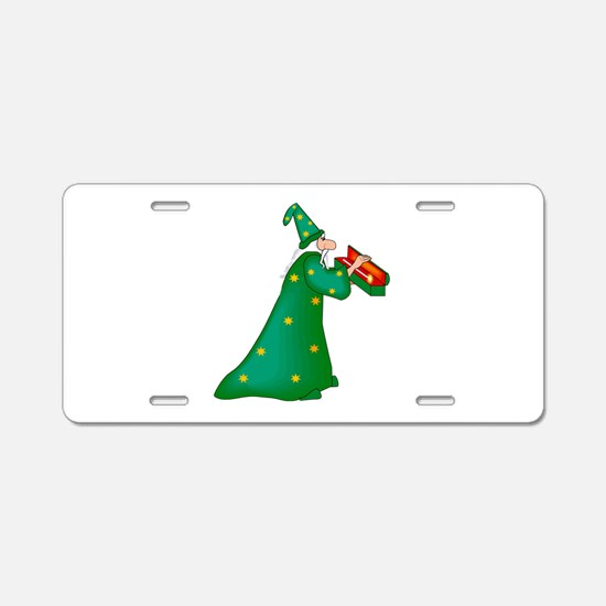 Green witch Aluminum License Plate