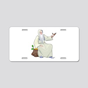 Male Witch Aluminum License Plate
