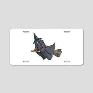 Witch on a Broom Aluminum License Plate