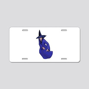 Blue Witch Aluminum License Plate