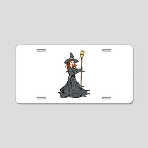 Wild Witch Aluminum License Plate