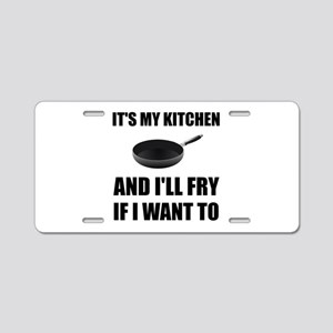 Kitchen Fry Want To Aluminum License Plate