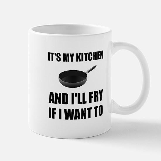 Kitchen Fry Want To Mugs