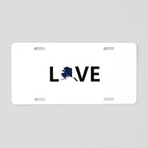 Love Alaska Aluminum License Plate