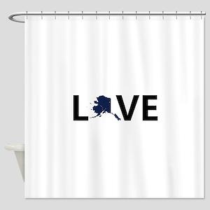 Love Alaska Shower Curtain