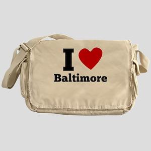 I Heart Baltimore Messenger Bag