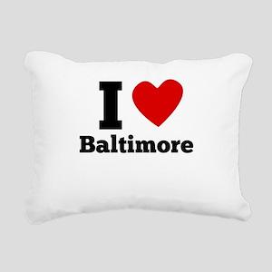 I Heart Baltimore Rectangular Canvas Pillow