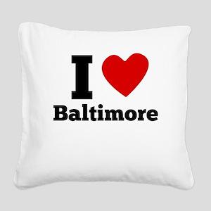 I Heart Baltimore Square Canvas Pillow