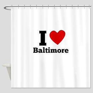 I Heart Baltimore Shower Curtain