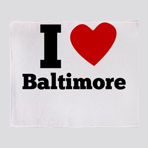 I Heart Baltimore Throw Blanket