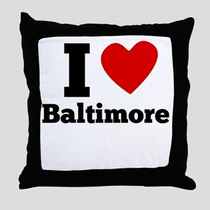 I Heart Baltimore Throw Pillow