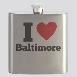 I Heart Baltimore Flask