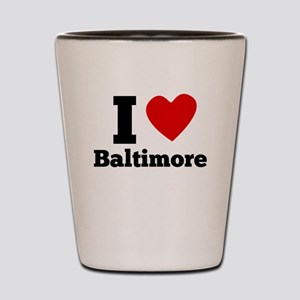I Heart Baltimore Shot Glass