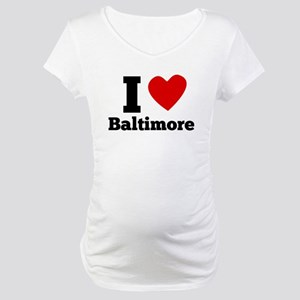 I Heart Baltimore Maternity T-Shirt