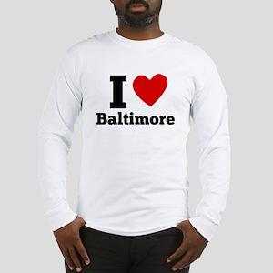 I Heart Baltimore Long Sleeve T-Shirt