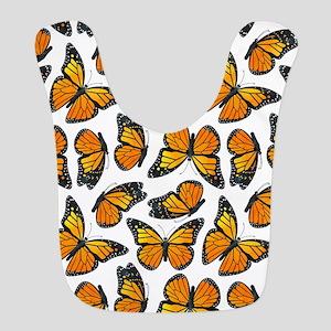Monarch Butterfly Pattern Polyester Baby Bib