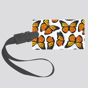 Monarch Butterfly Pattern Large Luggage Tag