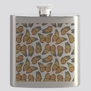 Monarch Butterfly Pattern Flask