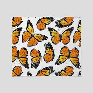 Monarch Butterfly Pattern Throw Blanket