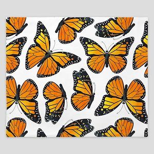 Monarch Butterfly Pattern King Duvet
