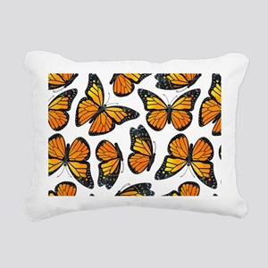 Monarch Butterfly Patter Rectangular Canvas Pillow