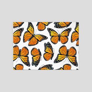 Monarch Butterfly Pattern 5'x7'Area Rug