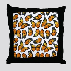 Monarch Butterfly Pattern Throw Pillow