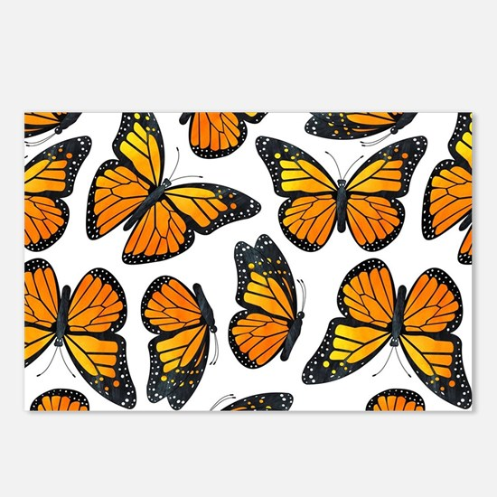 Monarch Butterfly Pattern Postcards (Package of 8)