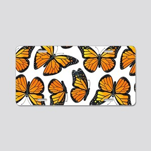 Monarch Butterfly Pattern Aluminum License Plate