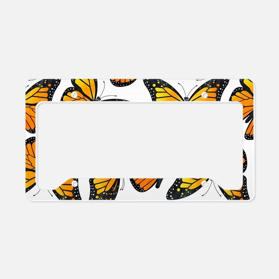 Monarch Butterfly Pattern License Plate Holder