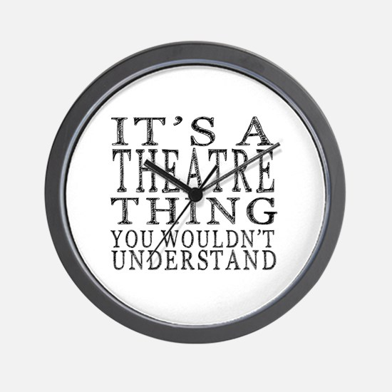 Cute Drama Wall Clock