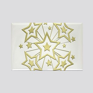 Gold Star Burst Magnets