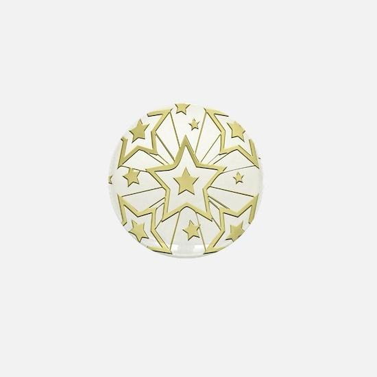 Gold Star Burst Mini Button