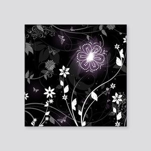 """floral butterfly Square Sticker 3"""" x 3"""""""
