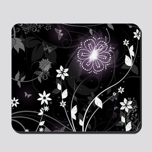 floral butterfly Mousepad
