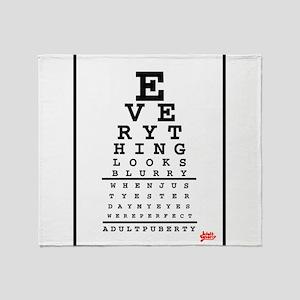 Adult Puberty Eye Chart Throw Blanket