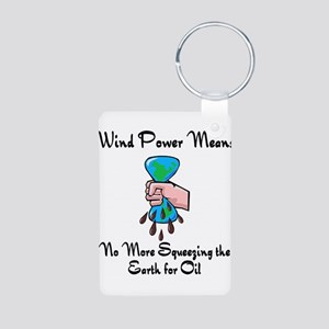 two large windmills Aluminum Photo Keychain
