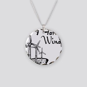 i farm wind with 3 windmills Necklace Circle C