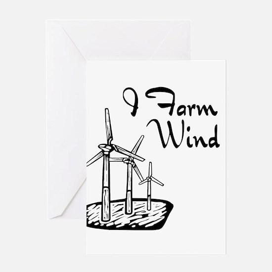 i farm wind with 3 windmills.png Greeting Card