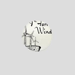 i farm wind with 3 windmills Mini Button