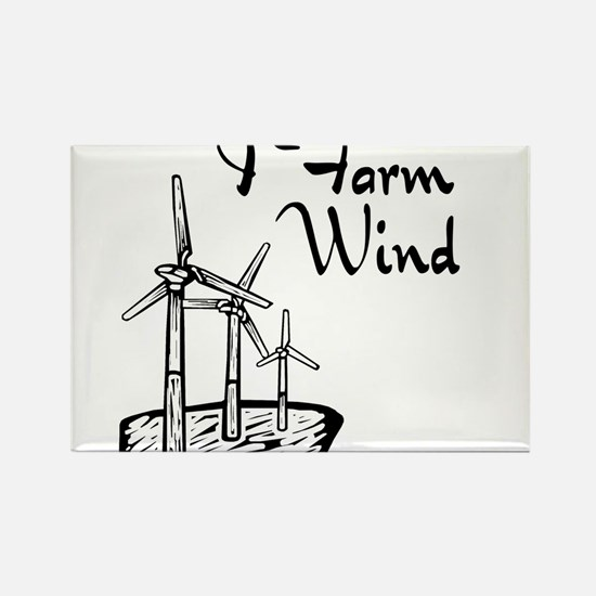 i farm wind with 3 windmills.png Rectangle Magnet