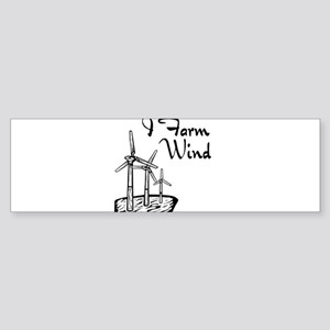 i farm wind with 3 windmills Sticker (Bumper)