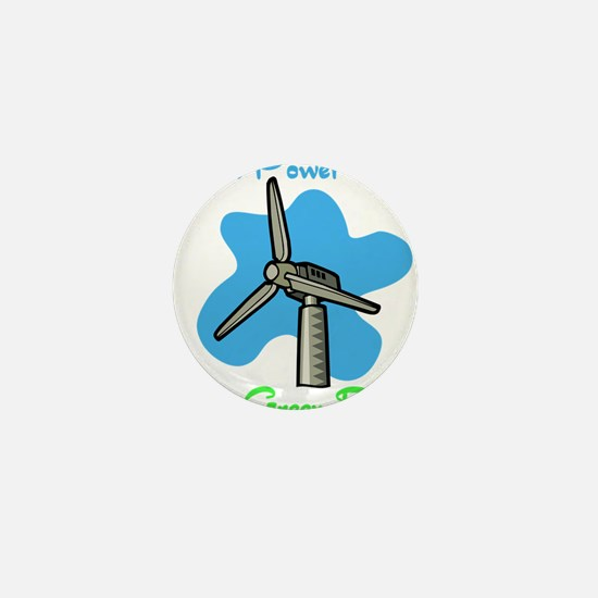 three blue windmills.png Mini Button