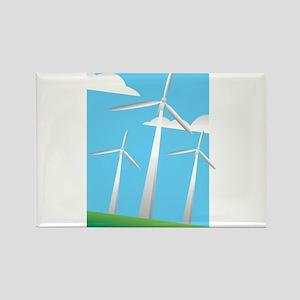 pretty windmills Rectangle Magnet