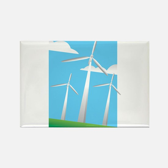 pretty windmills.png Rectangle Magnet