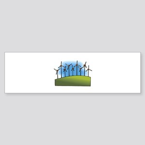 i love heart wind power windmills Sticker (Bum