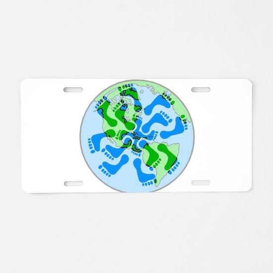 Footprint Planet Aluminum License Plate